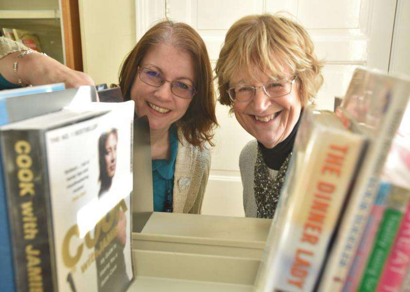 Tracey Crawley with Liz Waterland, chairman of The Friends of Deepings Library. Photo by David Lowndes.