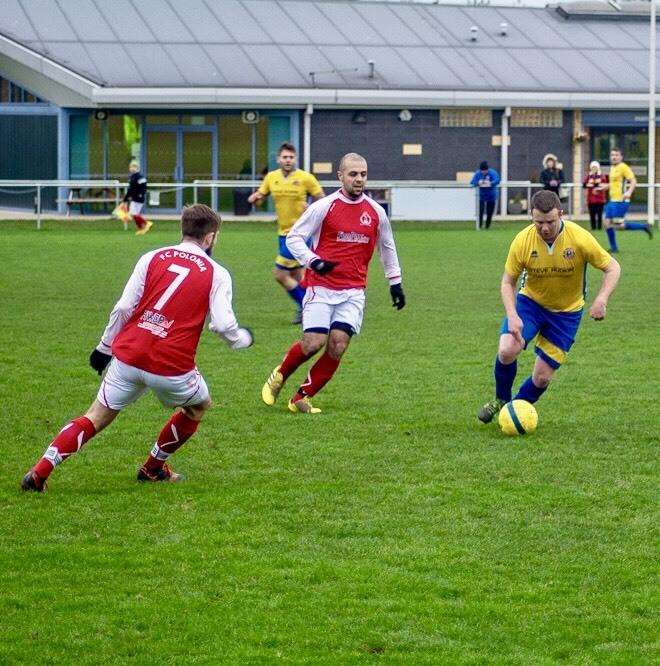 Match action from Stamford Lions' victory over Peterborough Polonia. Photo: Dan Allen (6389244)