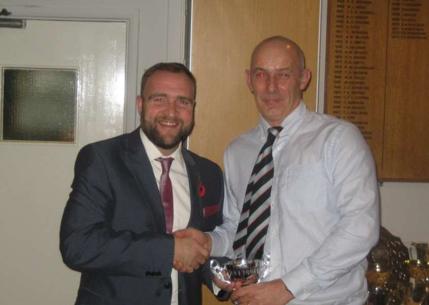 Danny Harrington (right) claimed the first ton of the Rutland League season for Ufford Park seconds.