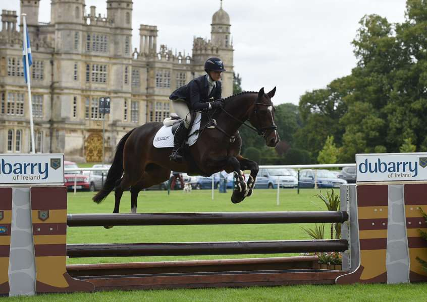 Tiana Coudray (USA) riding CAVILIER CRYSTAL; winner of the Dubarry Burghley Young Event Horse, 5year Old Final during The Land Rover Burghley Horse Trials near Stamford in Lincolnshire, UK, on 4th September 2015 EMN-150509-110009001