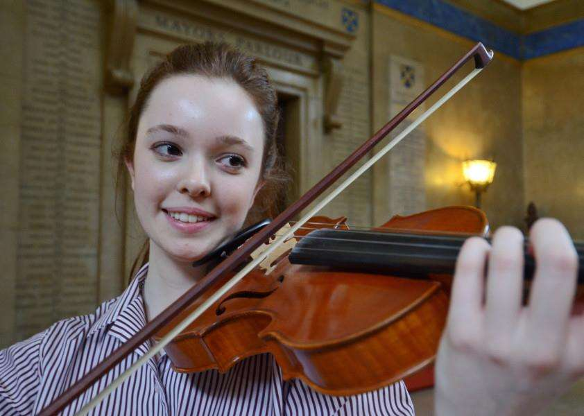 Music Festival 2015 at Peterborough Town Hall. Pictured is violinist Nathalie McEvoy (17) from The King's School EMN-150317-163732009