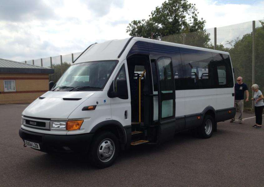 The new Uppingham Hopper bus, provided by Rutland County Council. EMN-150818-094746001