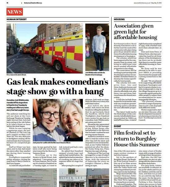 The Mercury's Josh Widdecombe and the gas leak story (11013936)