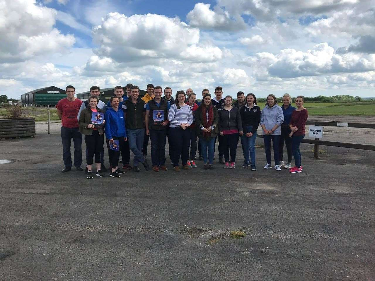Lincolnshire Young Farmers after taking part in a skydive last year