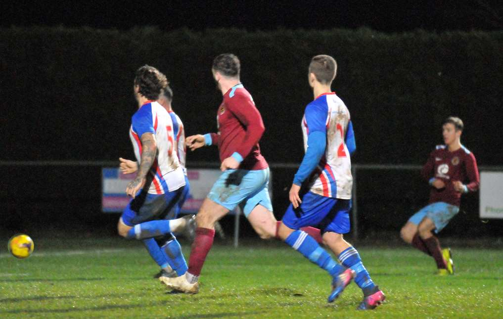 Deeping Rangers FC - second-half action v Clacton Deeping goal (5724394)