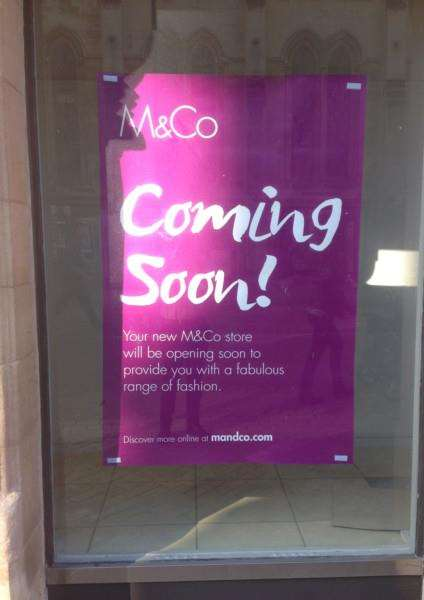Clothes firm M&Co is opening in the former Poundland shop in High Street, Stamford. Photo: MSMP-12-10-15-am004 EMN-151210-143716001