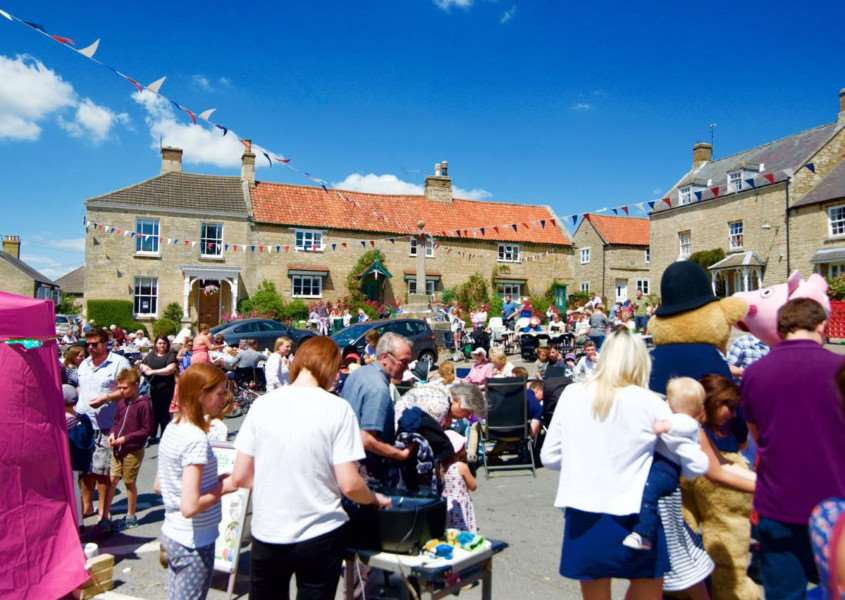 The Market Place was filled with visitors to the Corby Glen Big Lunch.