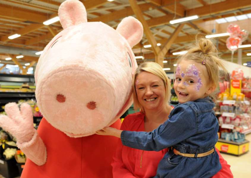 Peppa Pig family fun day at Tesco store in Bourne