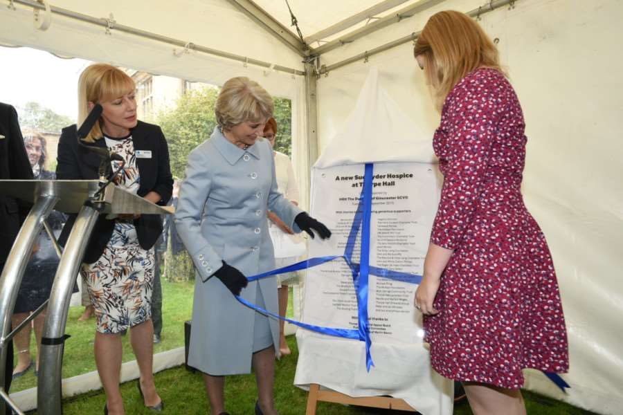 The Duchess of Gloucester and Jessica Bacon officialy open the new hospice