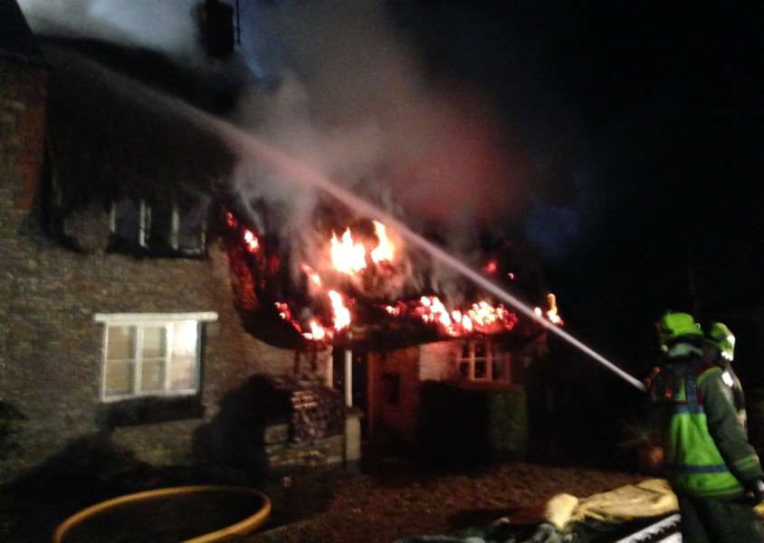 House fire in Wing, Rutland. Photo: Andrew Brodie