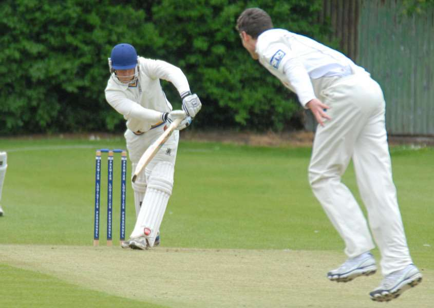 Pete Morgan cracked an unbeaten 270 for Bourne against Uppingham.