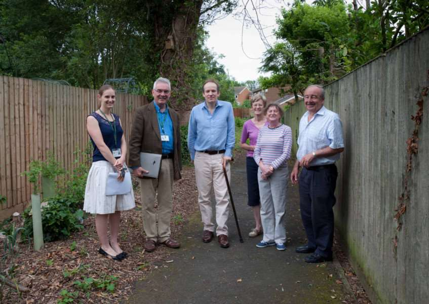 Cory Environmental trustees visit Whissendine Envirinmental Project volunteers