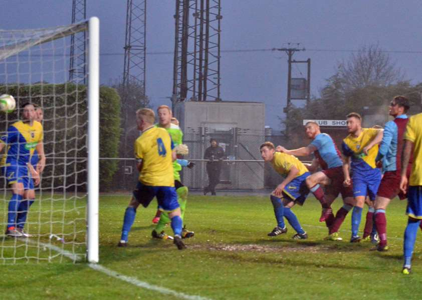 Deeping Rangers FC - second-half action v Wellingborough Town'Deeping's second goal