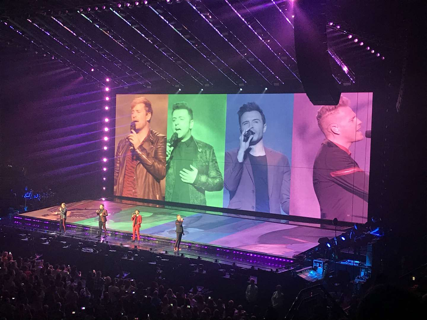 Westlife in concert at Motorpoint Arena in Nottingham (12642227)