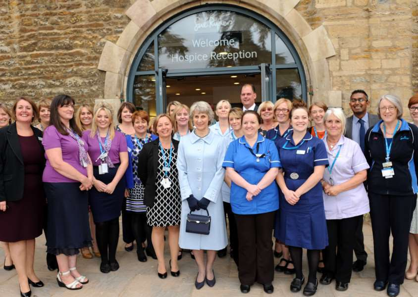 The Duchess of Gloucester at the official opening of Thorpe Hall Hospice EMN-160407-160527001