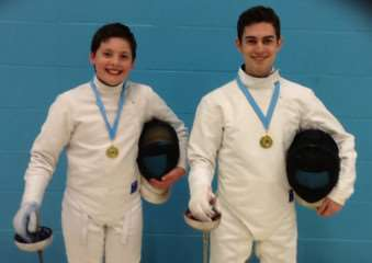 Bourne Grammar School pupils William Ferguson and Theo Edwards enjoyed success at the Eastern Region Youth Fencing Championships. EMN-150318-135815001