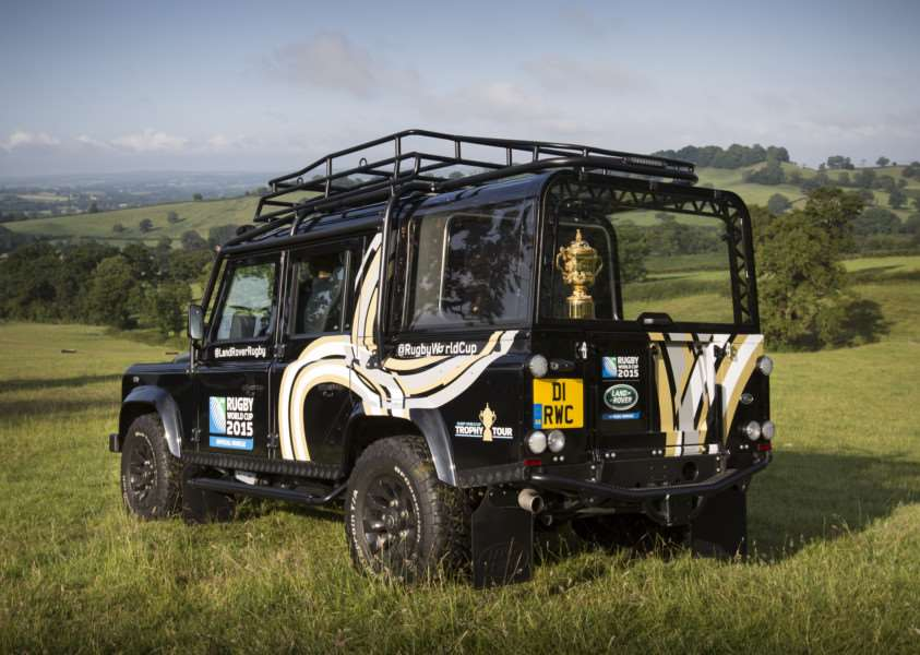 The Rugby World Cup trophy is coming to the Land Rover Burghley Horse Trials. Photo: James Robinson onEdition Media EMN-150729-153859001