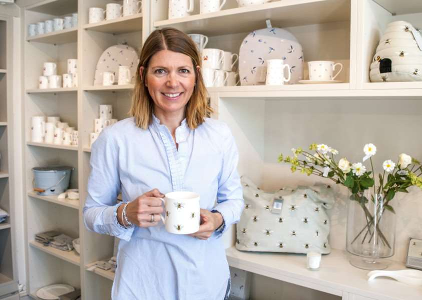 Sophie Allport in her new shop in Stamford High Street'Photo: Lee Hellwing