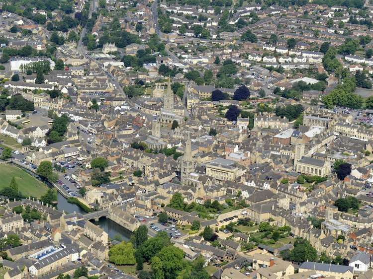 Aerial view of Stamford