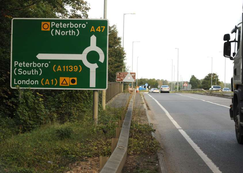 The A47/A1 junction near Wansford, Peterborough. Photo: Paul Franks/Peterborough Telegraph