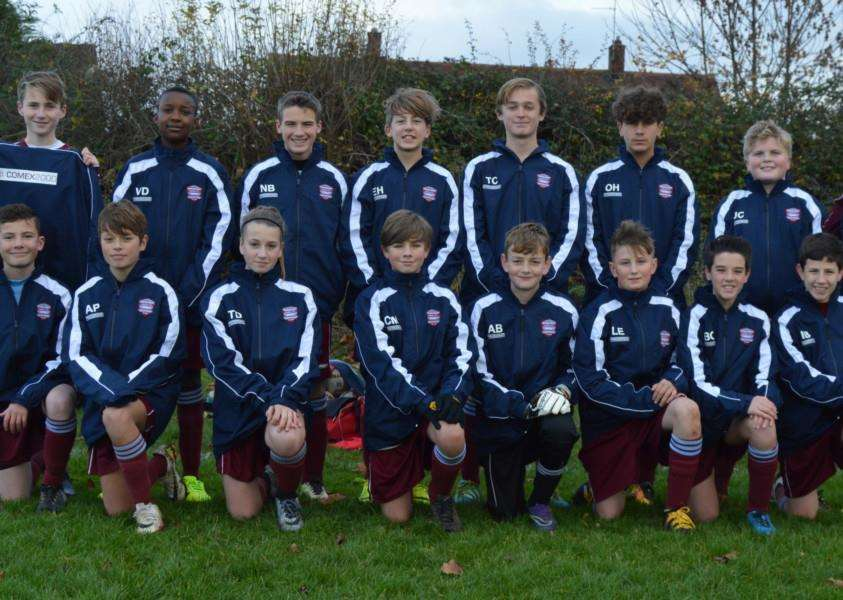 The Bourne Town Reds under 14s.