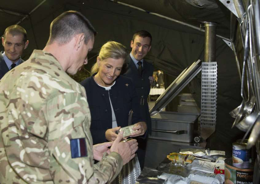 Her Royal Highness the Countess of Wessex at RAF Wittering