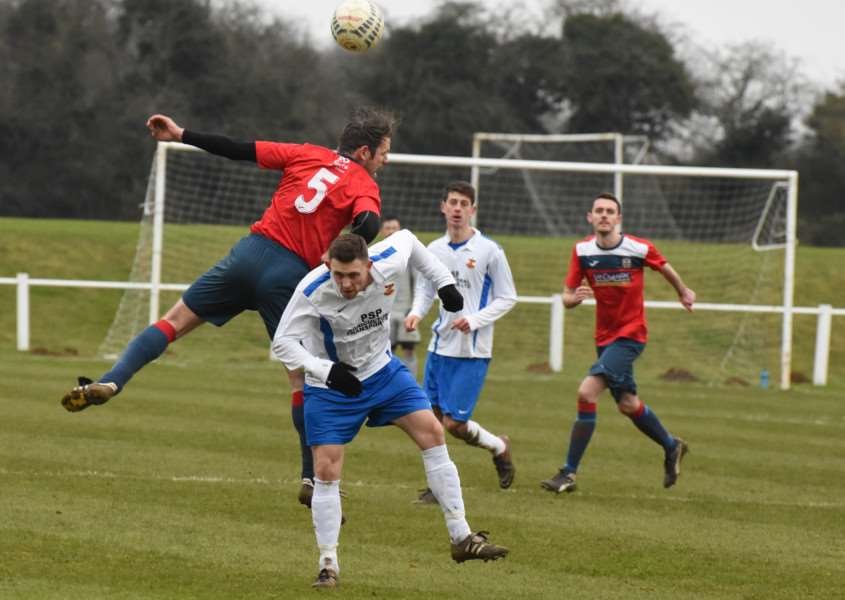 Action from Cottesmore Amateurs v Barlestone St Giles. Photo: Alan Walters EMN-160216-092535001