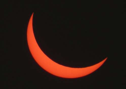 The solar eclipse on March 20, 2015, taken by Peter Wright in Bourne. EMN-150320-103006001