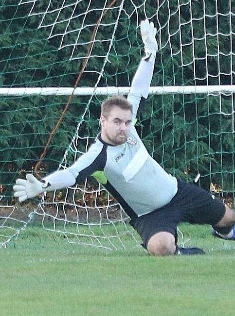 Nathan Clare made a vital save to deny Desford a way back into the contest. (7560328)