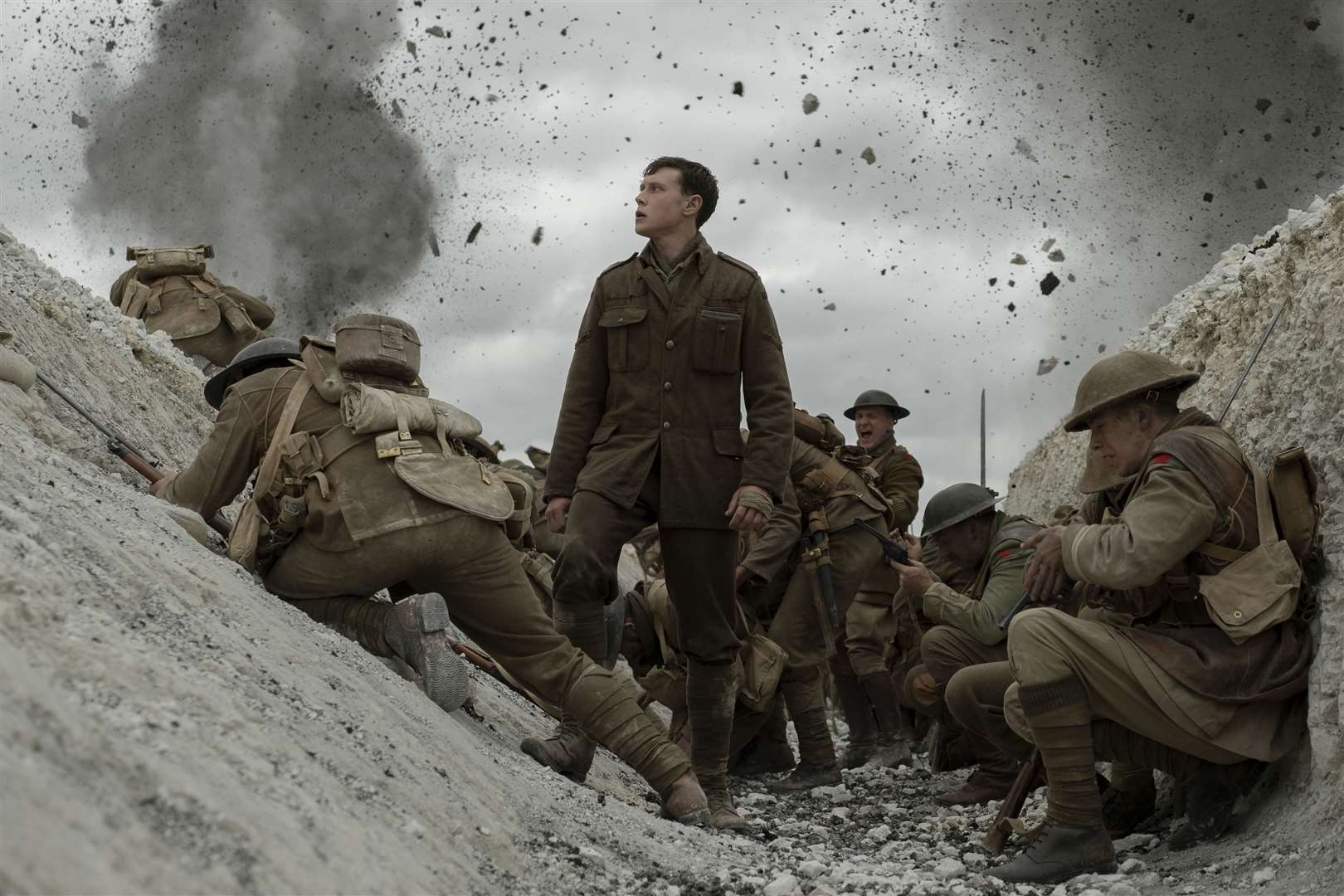 George MacKay as Lance Corporal William Schofield in 1917. Picture: Universal Pictures / DreamWorks Pictures / Storyteller Distribution Co, LLC/Francois Duhamel
