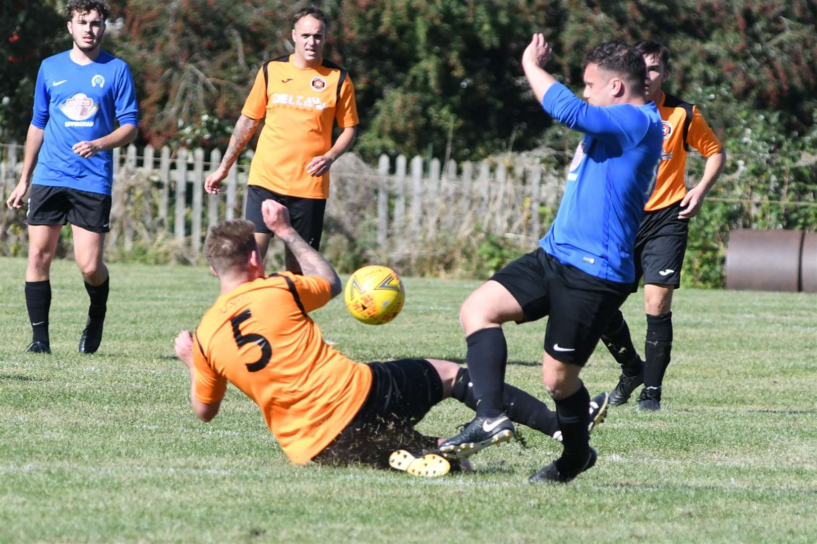 Action from Uppingham's 1-0 home win over Leverington. Photo: Alan Walters (17564260)