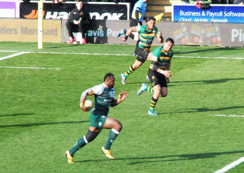 Action from Northampton Saints against Leicester Tigers. Photo: John Evely EMN-160419-100217001