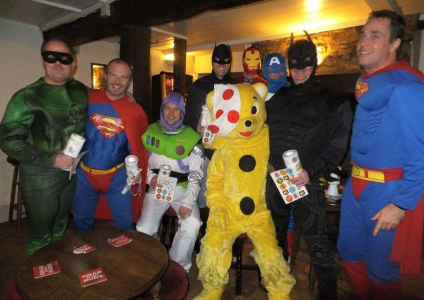 Deeping Round Table superheroes for Children in Need, who foiled a real-life crime EMN-151116-170718001