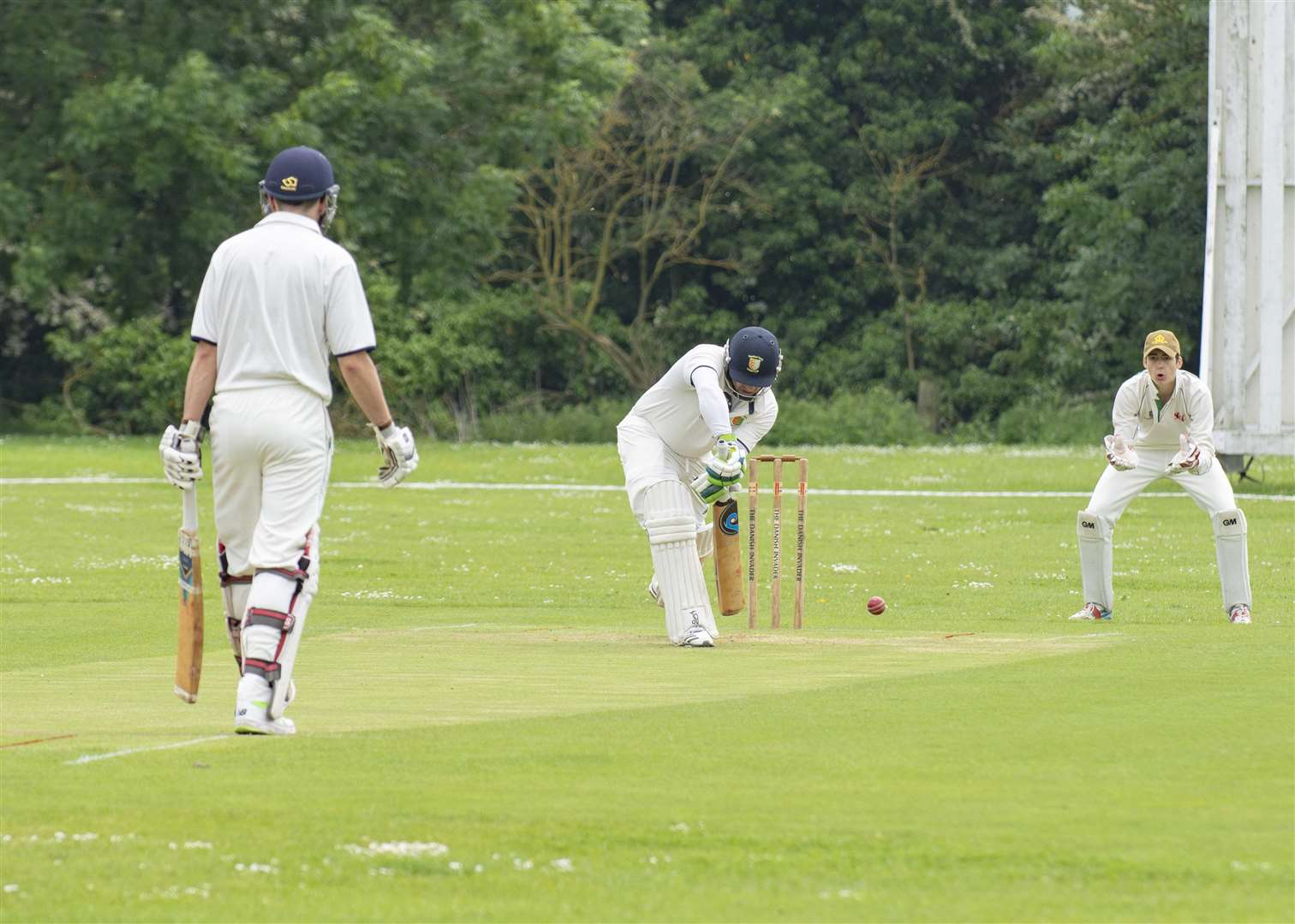Liam Dave scored 21 for Stamford on Saturday in their win over Blunham.. Photo: Lee Hellwing.