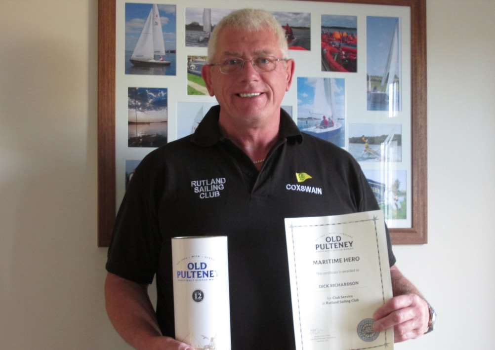 Dick Richardson who was nominated by Rutland Sailing Club for a Maritime Heroes Award EMN-141113-115542001