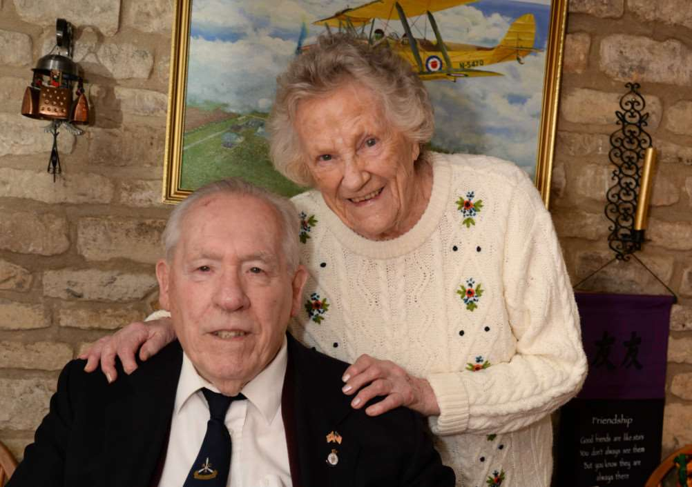 Ken and Diana Odell who celebrated their 70th wedding anniversary on Tuesday last week. Photo courtesy of Alan Walters. EMN-150330-141618001