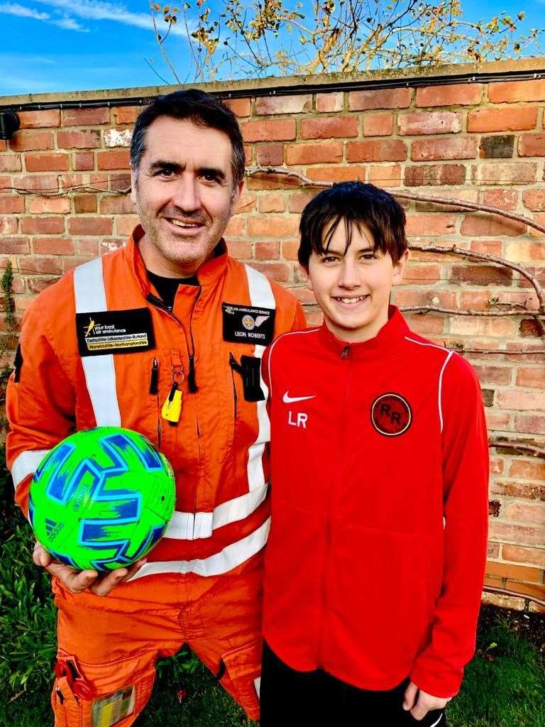 Dr Leon Roberts with son Logan who plays for Royce Rangers.