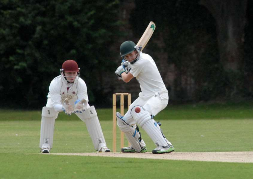 Sam Evison finished unbeaten on 23 for Bourne against Stamford.