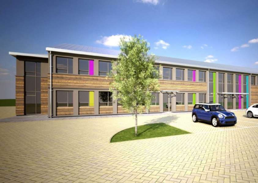 Artist's impression of new science block at Bourne Grammar School. Image: Grayling Thomas