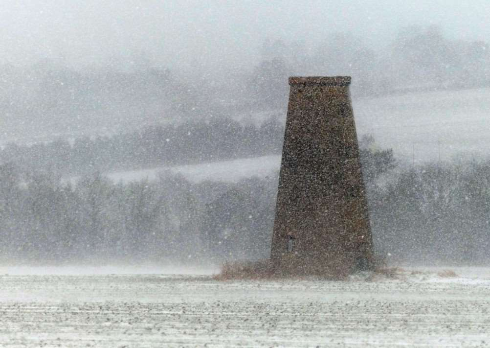 White-out conditions at South Luffenham by Stamford Photographic Society chairman John Hillier.