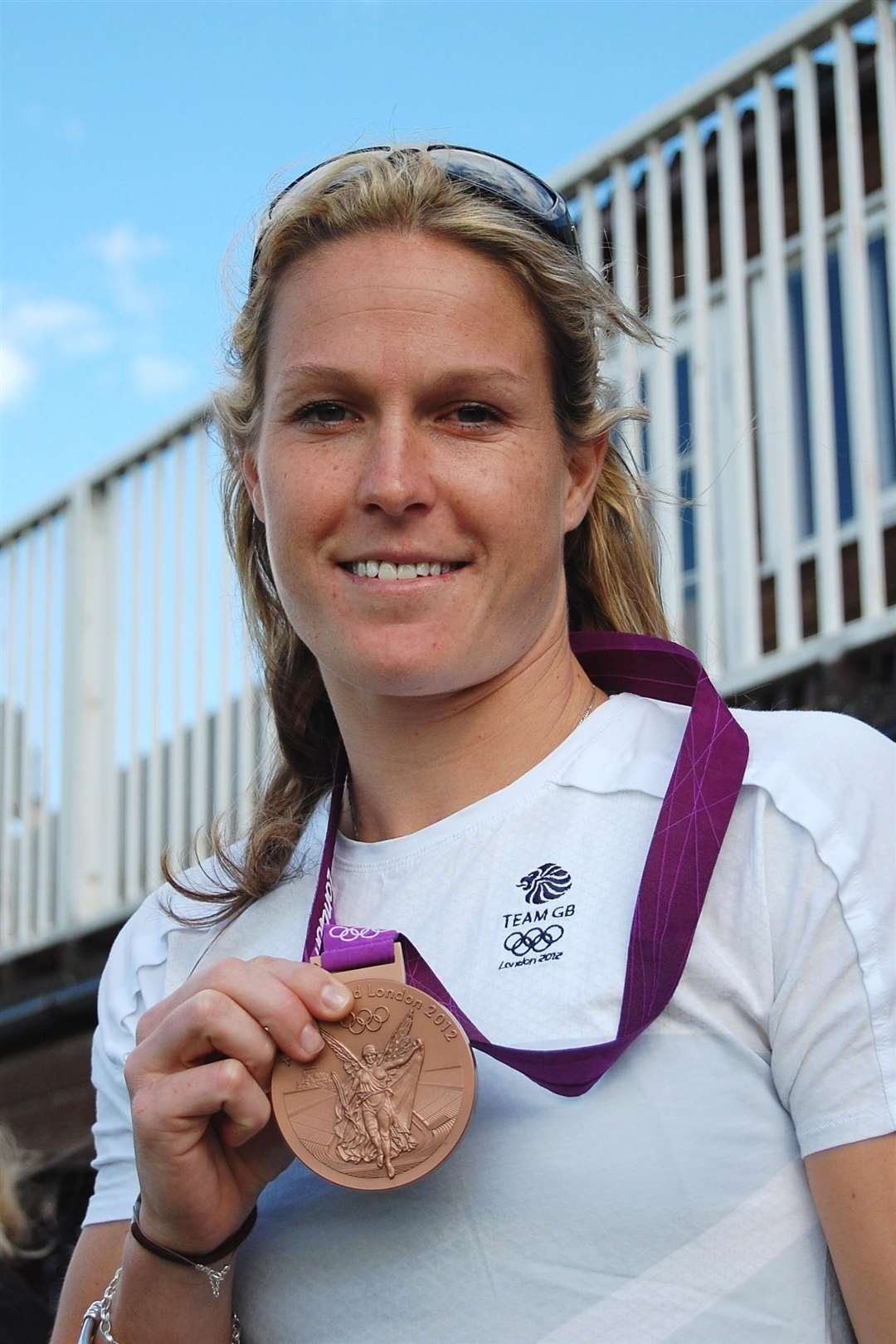 Crista Cullen with her 2012 Olympic bronze medal. (4439390)