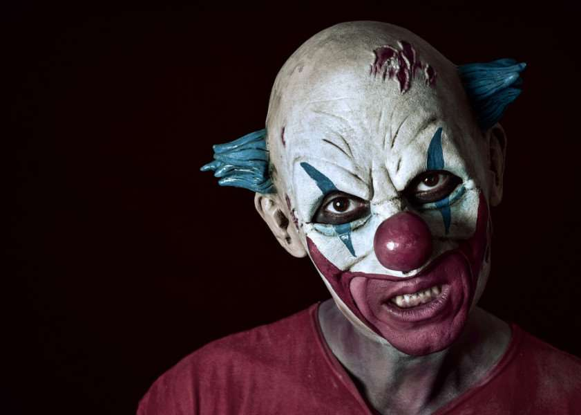 Police warning as 'killer clown' craze hits UK. Photo: Shutterstock.