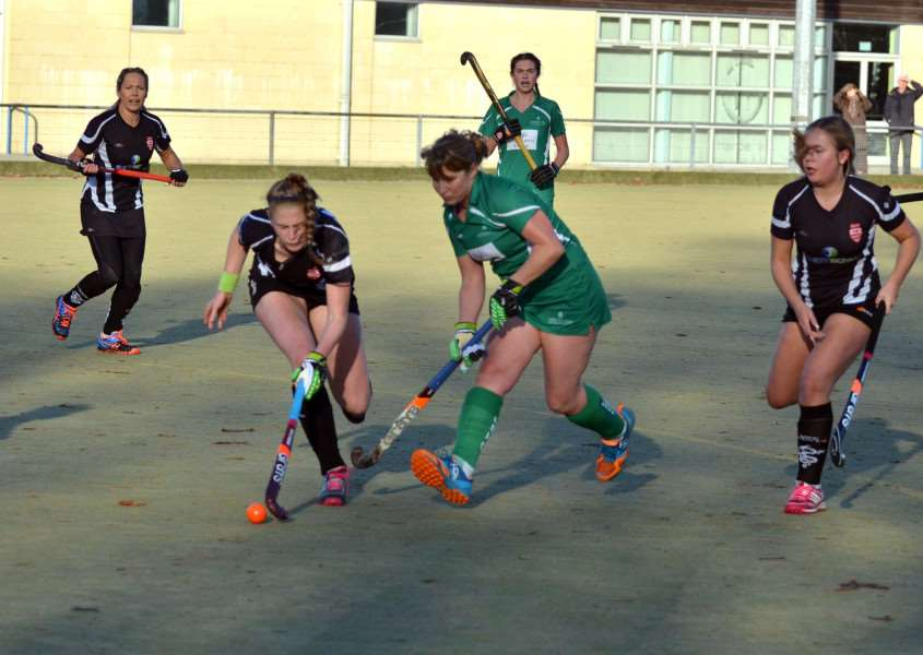 Action from Long Sutton versus Bourne Deeping Ladies. ANL-161127-113315001
