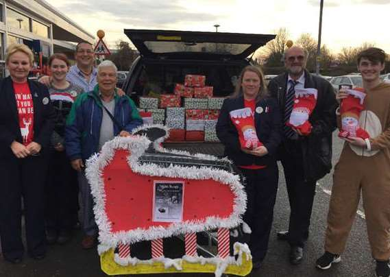 Donated gifts at Tesco in Market Deeping