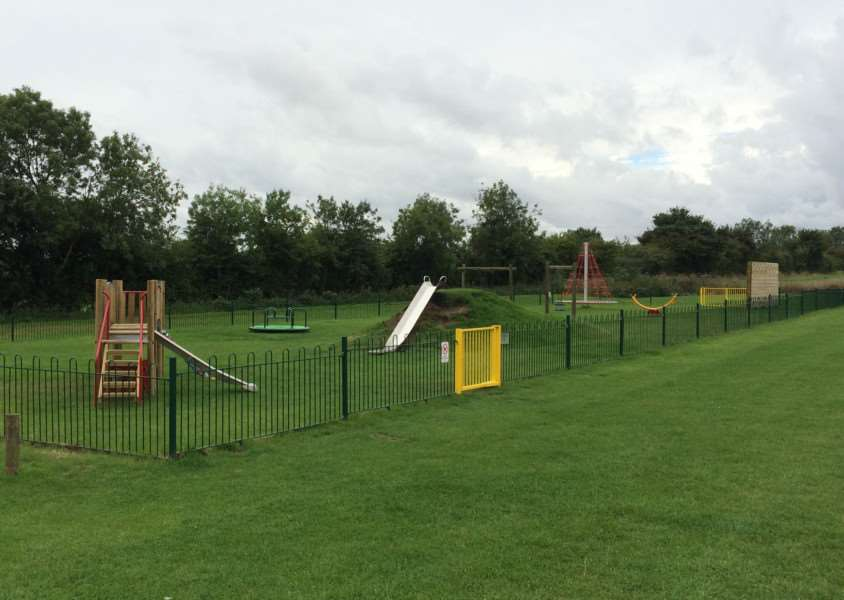 The new play area in Folkingham. EMN-150827-140538001