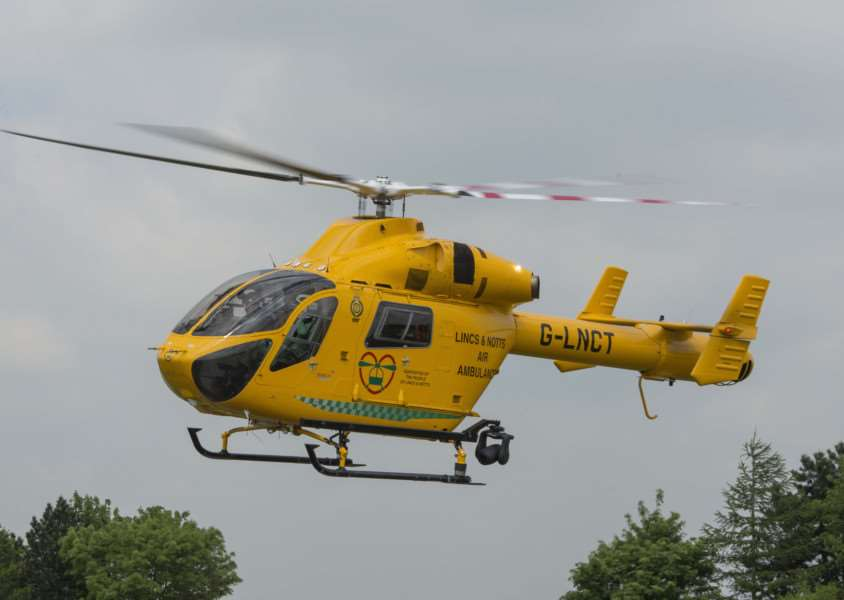 Lincs and Notts Air Ambulance. Photo: Rob Inglis