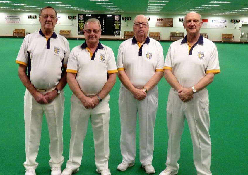 Martin Dolby, Mal Smith, Doug Want and Peter Edwards in the Over 60s rinks area final.