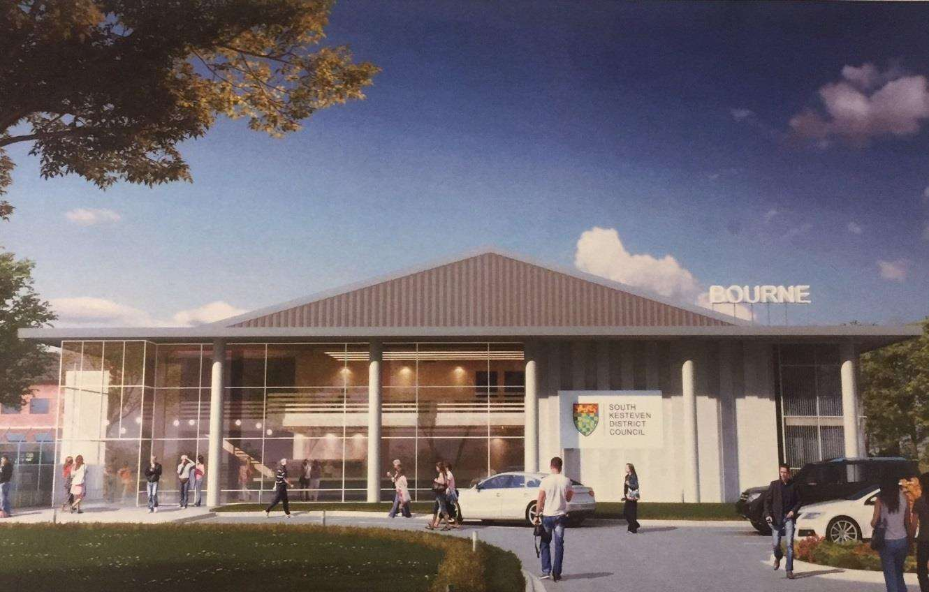 An artist's impression of how the remodelled Bourne Leisure Centre will look (7534543)