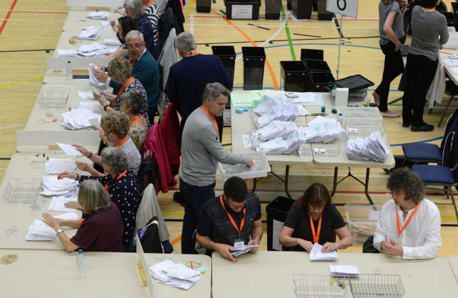 The count at Grantham Meres leisure centre.