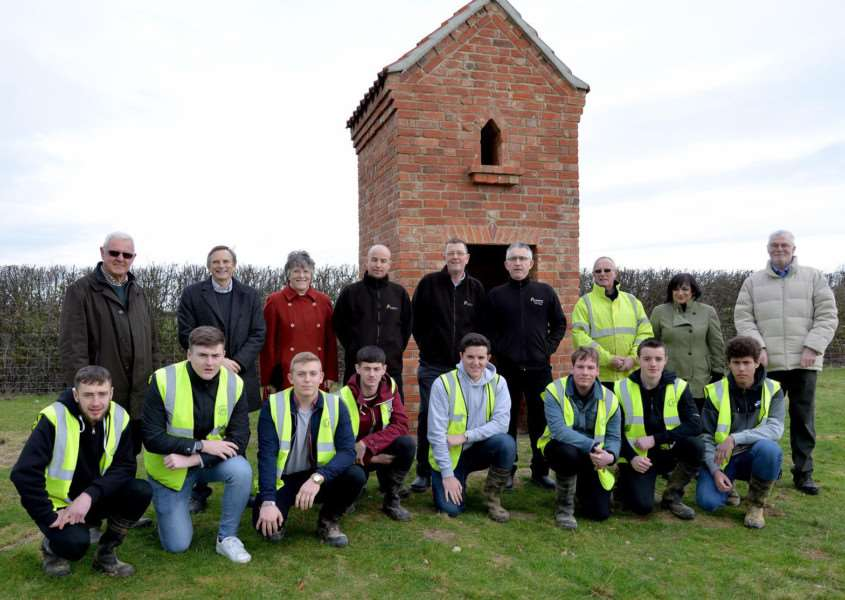 A new owl tower that has been installed in Dyke by the Len Pick Trust EMN-160218-154856001